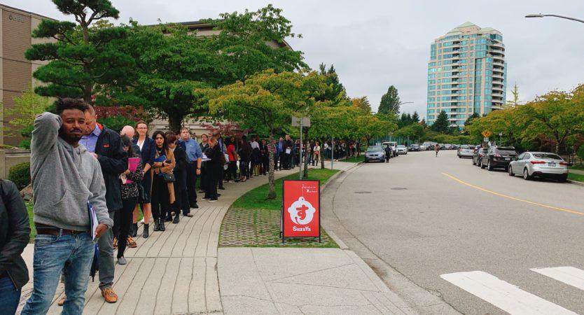 Job fair in Vancouver